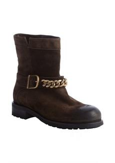 Jimmy Choo brown suede 'Daze' chain lug sole boots
