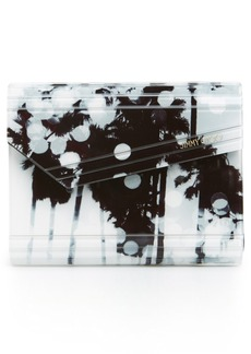 Jimmy Choo 'Candy - Palm Tree' Asymmetrical Flap Acrylic Clutch