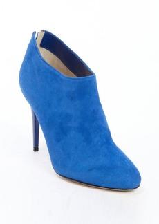 Jimmy Choo cobalt blue suede 'Mendez' zipper detail ankle booties