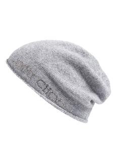 Jimmy Choo Crystal Logo Knit Cap