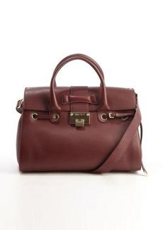 Jimmy Choo dark red leather 'Rosalie' convertible top handle satchel