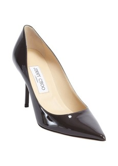Jimmy Choo dark taupe leather 'Agnes' pointed toe pumps