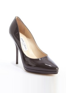 Jimmy Choo dark taupe patent leather 'Laurie' pumps