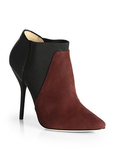 Jimmy Choo Delve Suede & Leather Colorblock Booties