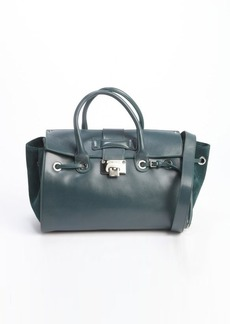 Jimmy Choo evergreen leather and suede 'Rosa' tote