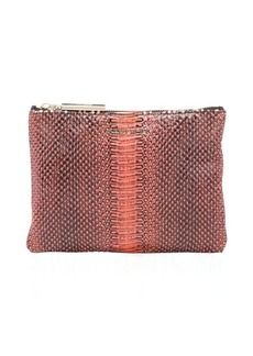 Jimmy Choo fire python 'Nina' zip top cosmetic pouch