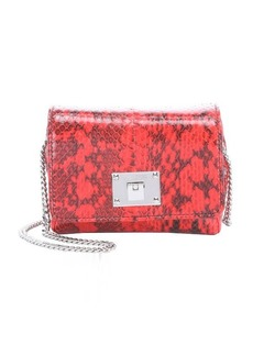 Jimmy Choo fire snake embossed leather 'Ruby' chainlink mini shoulder bag