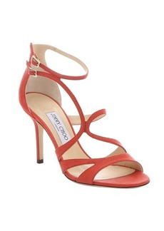Jimmy Choo fire spotted leather 'Fenzy' strappy stiletto sandals