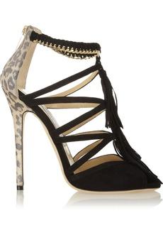 Jimmy Choo Flambe tasseled suede sandals