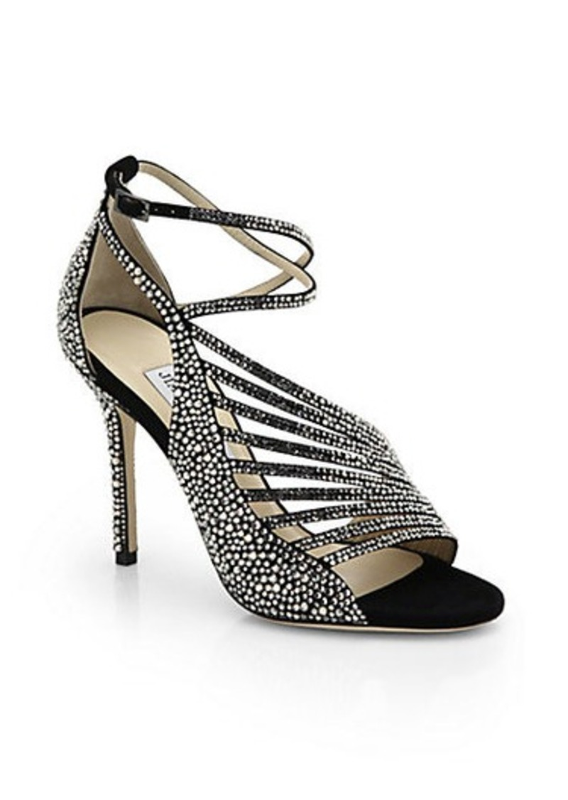 Jimmy Choo Jimmy Choo Florry Studded Suede Strappy Sandals ...