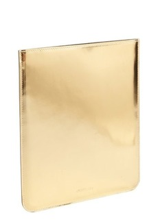 Jimmy Choo gold laminated metallic leather iPad sleeve