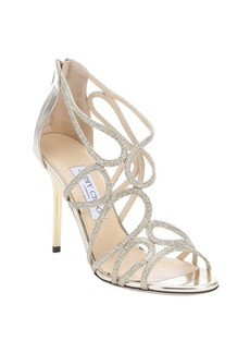 Jimmy Choo gold leather and glitter 'Layla' sandals
