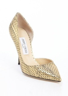 Jimmy Choo gold leather 'Willis' pointed toe pumps