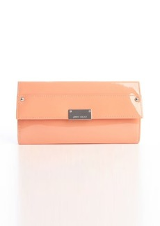 Jimmy Choo grapefruit patent leather 'Reese' clutch