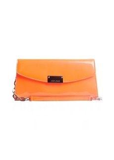 Jimmy Choo grapefruit patent leather 'Riane' convertible clutch