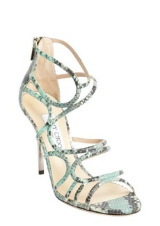 Jimmy Choo key lime snake embossed leather 'Sazerac' pumps