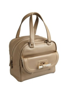 Jimmy Choo khaki green leather 'Justine' slide bar satchel