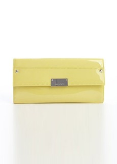 Jimmy Choo lemon patent leather 'Reese' clutch