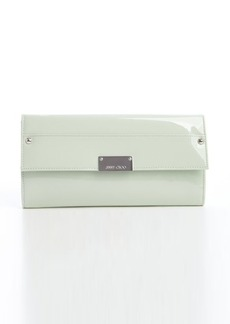 Jimmy Choo lime patent leather 'Reese' clutch