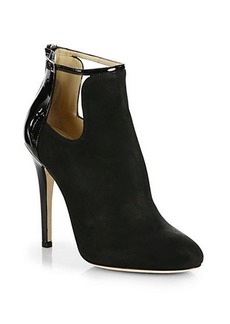 Jimmy Choo Luther Suede Cutout Booties