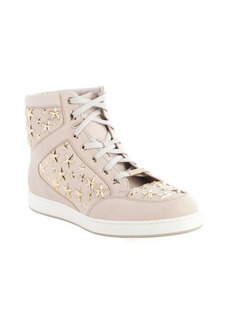 Jimmy Choo lychee star studded leather high top 'Tokyo' sneakers