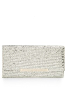 Jimmy Choo 'Marilyn' Glitter Leather Clutch