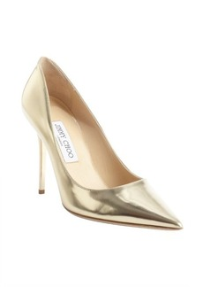 Jimmy Choo metallic gold patent leather 'Abel' pointed toe pumps
