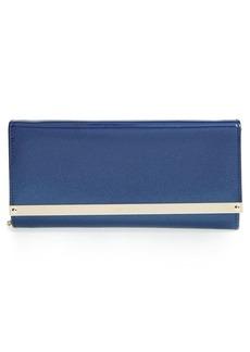 Jimmy Choo 'Milla' Glitter Patent Leather Flap Clutch