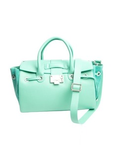 Jimmy Choo mint green grained leather 'Rosa' tote bag