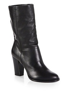 Jimmy Choo Music Leather Mid-Calf Boots