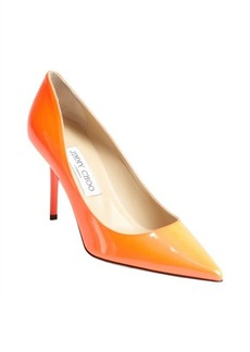 Jimmy Choo neon flame leather 'Agnes' pointed toe pumps