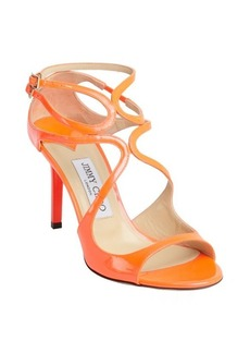 Jimmy Choo neon flame patent leather 'Ivette' strappy sandals