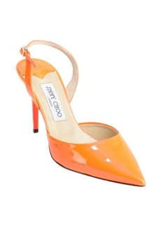 Jimmy Choo neon flame patent leather 'Tilly' slingbacks