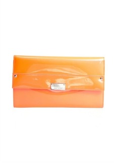 Jimmy Choo neon orange flame patent leather 'Reese' clutch