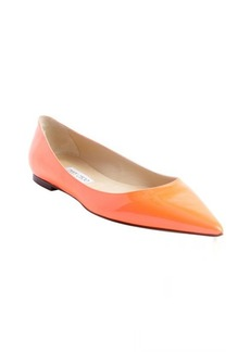Jimmy Choo neon orange pointed toe 'Alina' flats