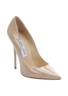 Jimmy Choo nude patent leather 'Anouk' stiletto pumps
