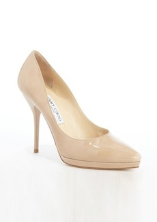 Jimmy Choo nude patent leather 'Laurie' pumps