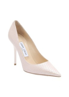 Jimmy Choo nude pearlescent snake print leather 'Abel' stiletto pumps