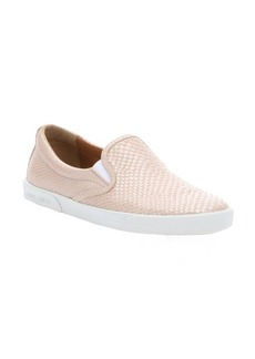 Jimmy Choo nude snake-effect leather 'Demi' slip-on sneakers