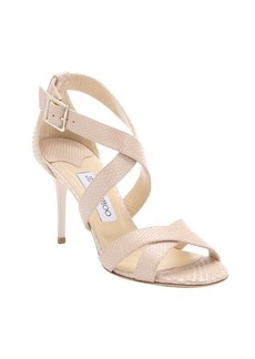 Jimmy Choo nude snake printed leather 'Louise' strappy sandals