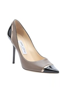 Jimmy Choo olive and black leather 'Lilo' stiletto pumps