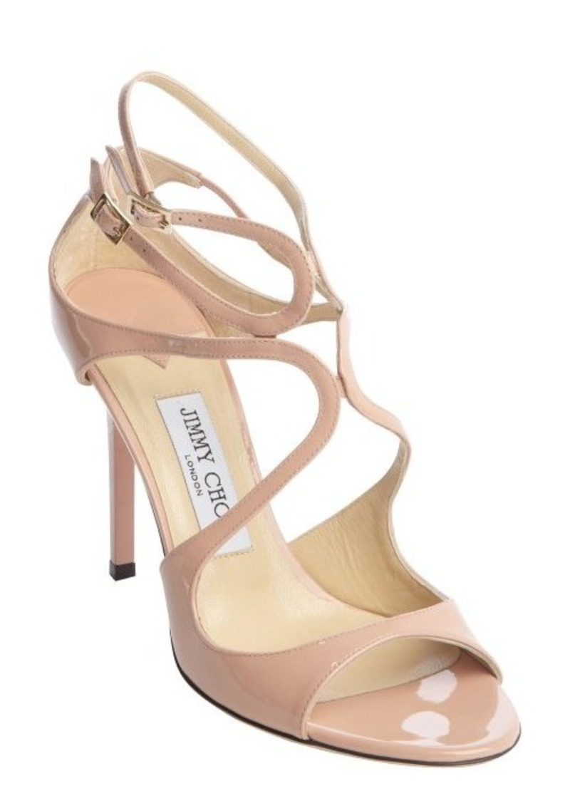 jimmy choo jimmy choo pink patent leather lang strappy