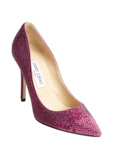 Jimmy Choo pink suede crystal studded 'Tania' pumps