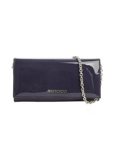 Jimmy Choo plum patent leather 'Nikita' convertible continental wallet