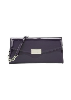 Jimmy Choo plum patent leather 'Riane' convertible continental wallet