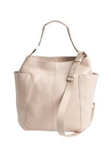 Jimmy Choo powder pink leather 'Anna' dual side pocket convertible shoulder bag