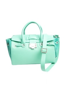 Jimmy Choo Pre-owned: mint green grained leather 'Rosa' tote bag