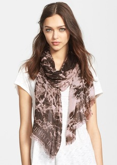 Jimmy Choo Print Fringed Scarf