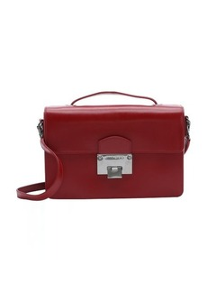 Jimmy Choo red leather 'Romy' convertible shoulder bag