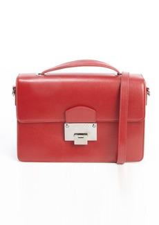 Jimmy Choo red leather 'Romy' convertible top handle shoulder bag